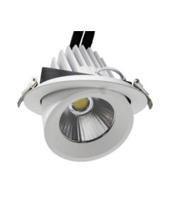 Verstelbare witte led spot 50W geschikt voor inbouw in de lichtkleur K4000 of k6000