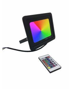 LED Bouwlamp RGB met afstandsbediening 50Watt Waterdicht IP66