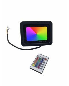 LED Bouwlamp RGB met afstandsbediening 30Watt Waterdicht IP66