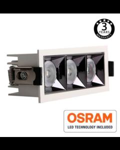 Inbouw Spot Vierkant wit 40Watt met Osram chip en UGR17 140l/W