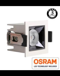 Inbouw Spot Vierkant wit 5Watt met Osram chip en UGR17 140l/W