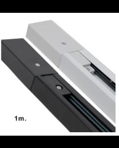 1-Fase Spanningsrail 1 meter VERSTERKT zwart / wit