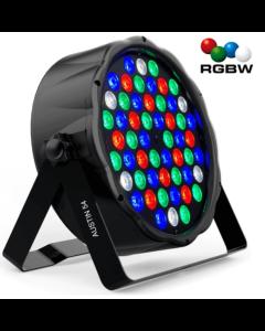 RGBW Led discolamp 54Watt bestuurbaar met DMX Signaal