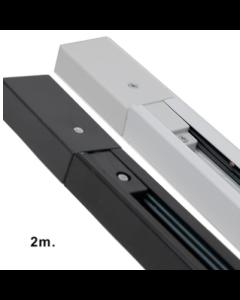 1-Fase Spanningsrail 2 meter VERSTERKT zwart / wit