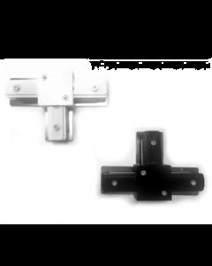 T (T-vorm) Verbinding voor Railverlichting 1 FASE in Zwart en Wit