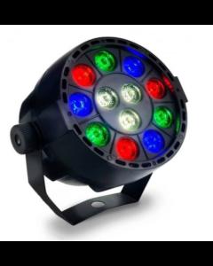Mini Discolamp Led RGB+Wit 36Watt DMX bestuurbaar