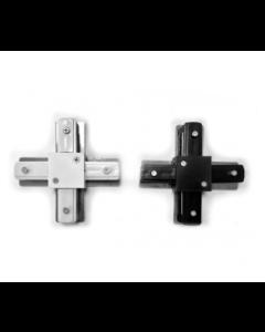 X Verbinding voor 1-fase Spanningsrail in Zwart en Wit