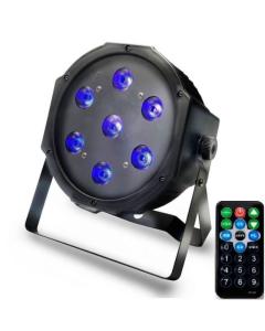 Discolamp Ledspot Blacklight Ultraviolet 28Watt met Afstandsbediening