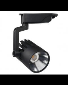 Railverlichting Led Spot 30W Zwart 1-fase