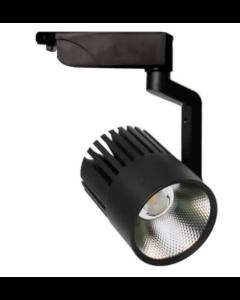 3-fase LED Tracklight 40W Pisa Zwart