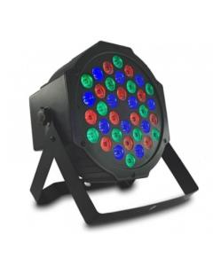 RGB Disco spot Led 36Watt met afstandsbediening en DMX bestuurbaar